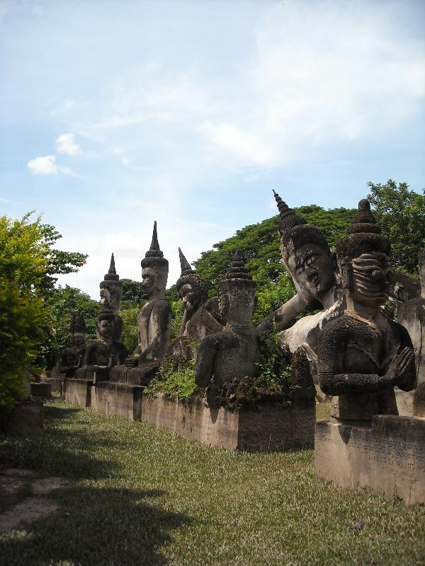 The cement statues of Xieng Khuan, Laos
