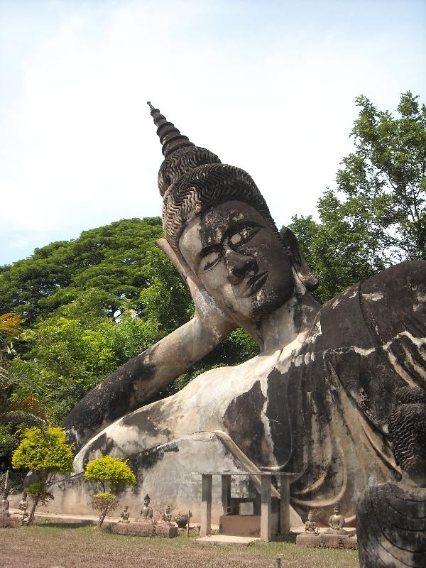 The largest Buddha statue in Laos, Vientiane Laos