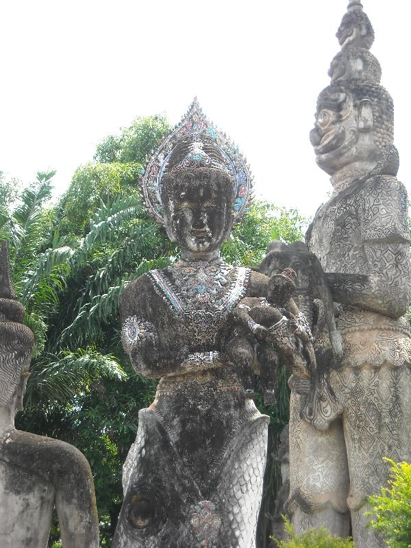 Hindu and Buddhist figures in Laos, Vientiane Laos