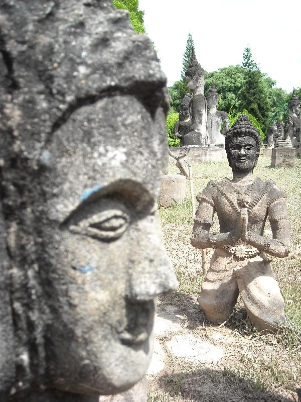 Impressive Buddhist sculptures, Laos
