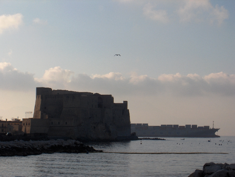 Naples Italy Castel dell'Ovo in Naples, Itay