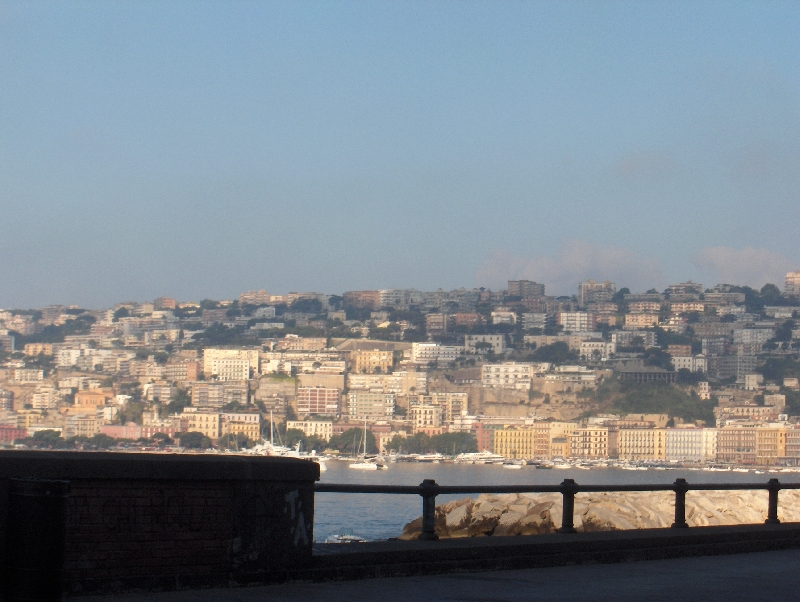 Looking over the city of Naples, Italy