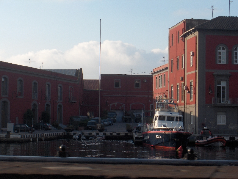 Carabinieri police boat in Naples, Italy