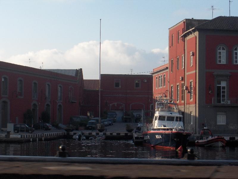 Carabinieri police boat in Naples, Italy