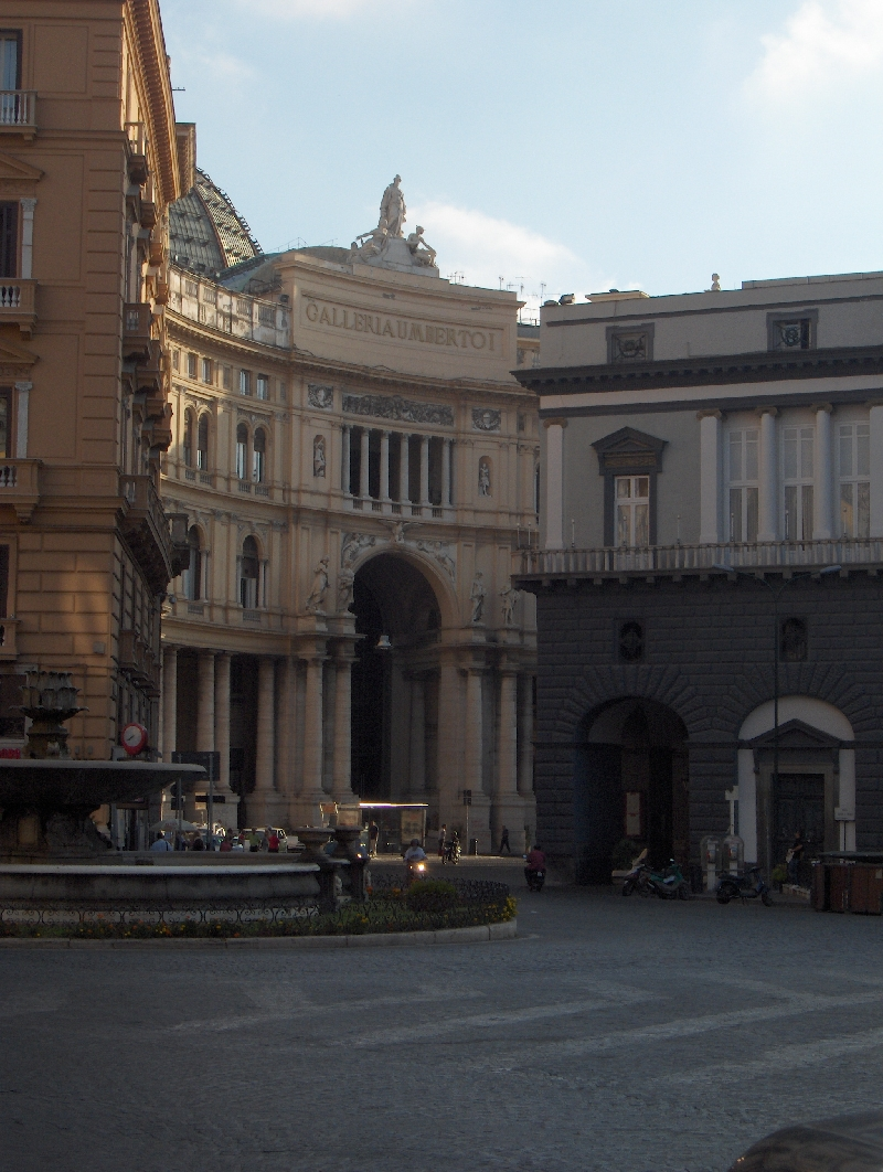 Buildings in the centre of Naples, Italy