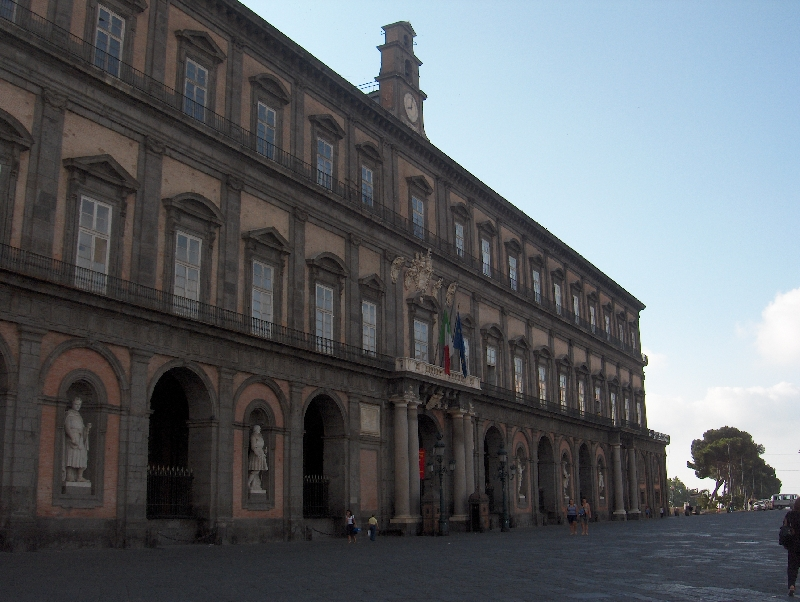 On Piazza del Plebiscito in Naples, Italy