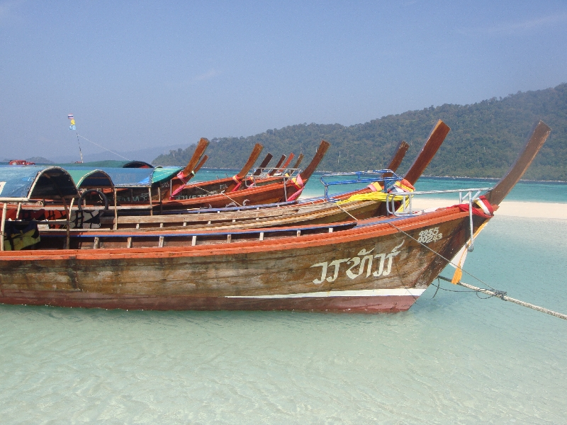 Longtail boats for Mountain Resort guests, Thailand
