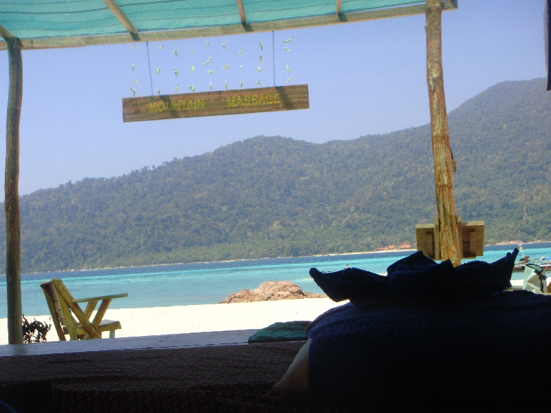 Panorama from my massage table, Ko Lipe Thailand