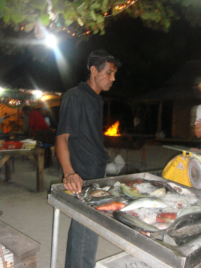 Ko Lipe Thailand Picking the fish ourselves!