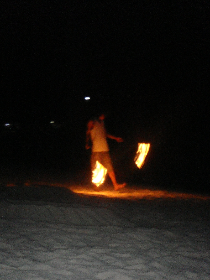 The Fire dancers on Pattaya Beach, Thailand