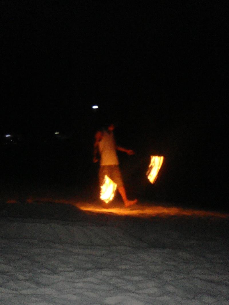 The Fire dancers on Pattaya Beach, Thailand