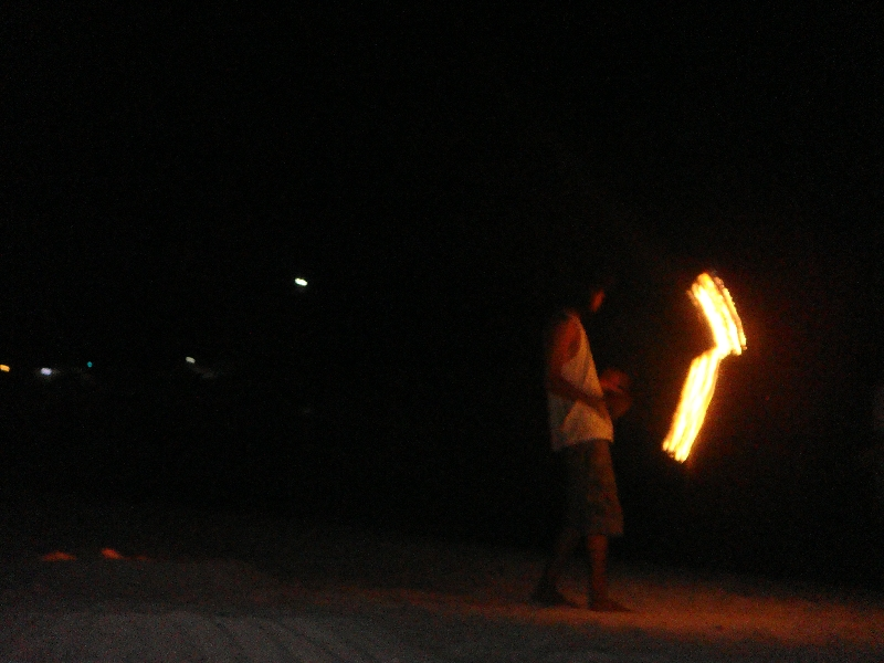 Dancers on the beach in Ko Lipe, Thailand
