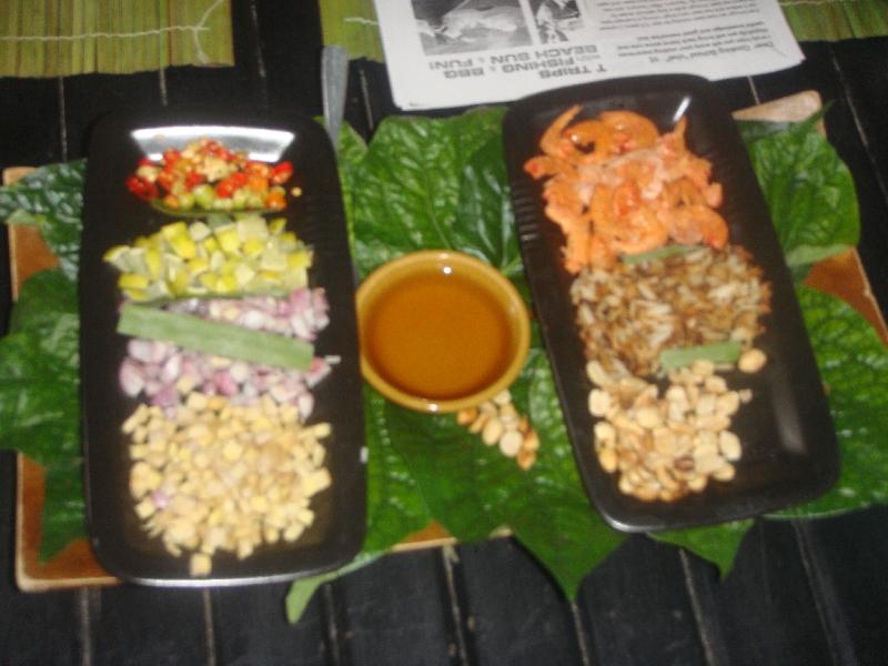 Original Thai Miang Kham Dips, Ko Lanta Thailand