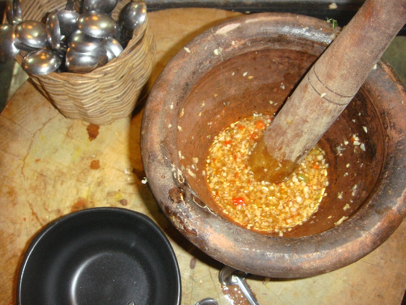 Making the Curry Paste from scratch, Thailand