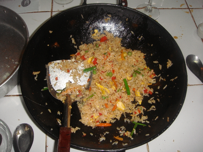 Wow fried rice made by me!, Ko Lanta Thailand