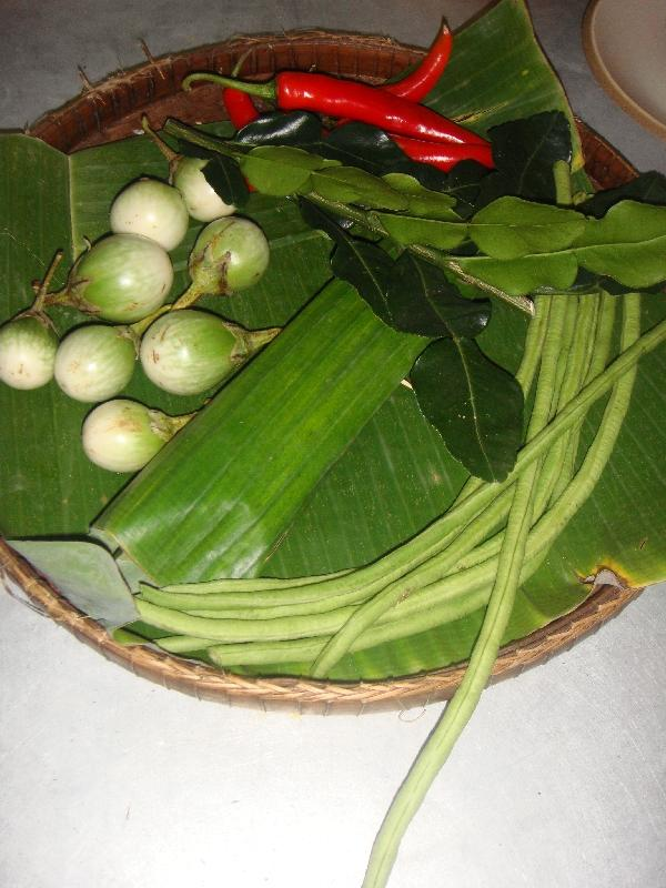 Fresh ingredients for our curry paste, Thailand