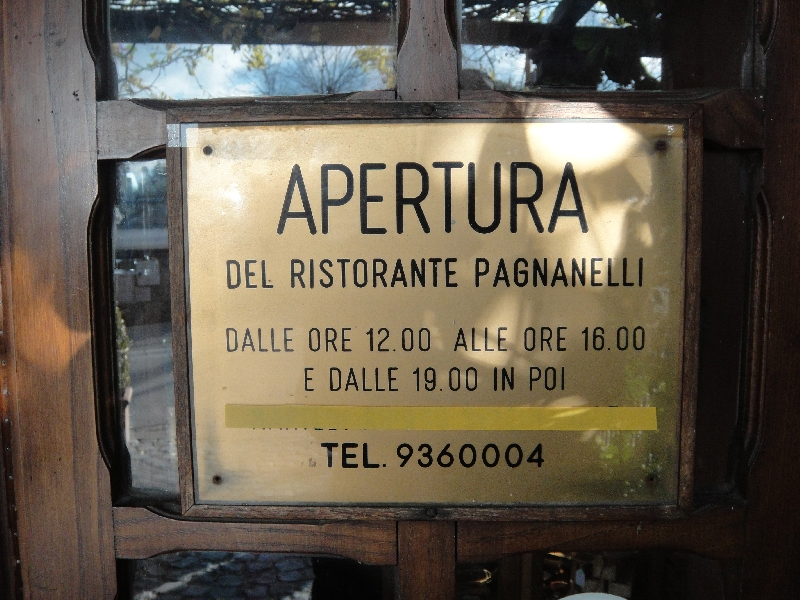 The entrance door sign, Italy