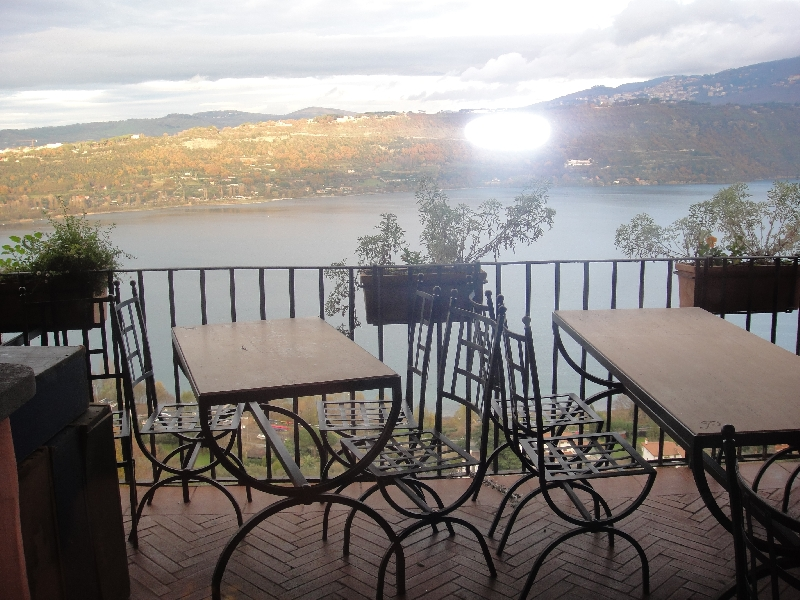 The view from Pagnanelli's restourant on Castel Gandolfo's lake, Castel Gandolfo Italy
