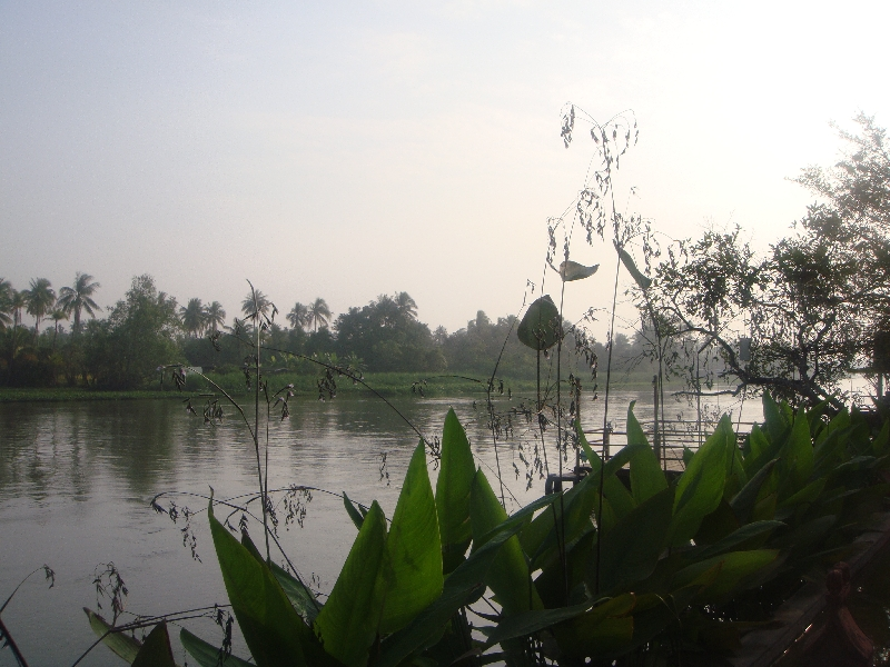 Pictures of Nakhon Pathom river, Thailand