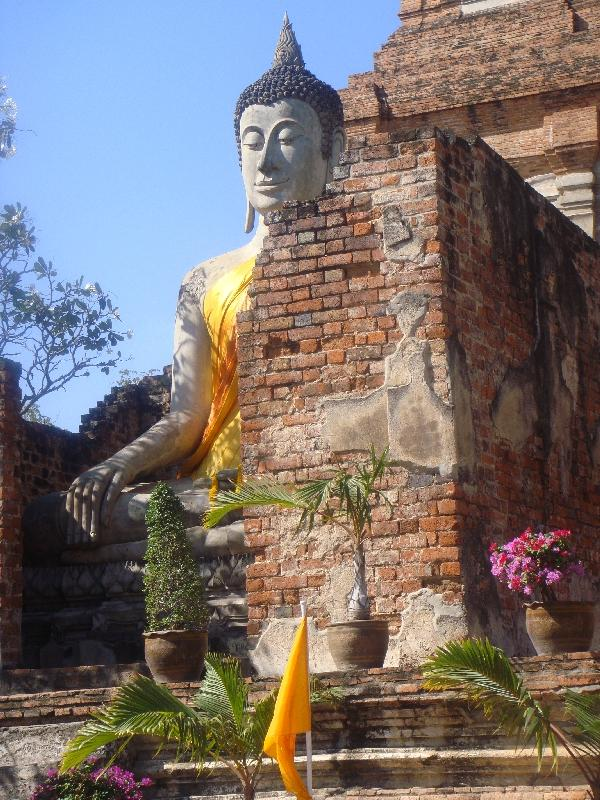 The Buddhist gardens in Ayutthaya, Thailand