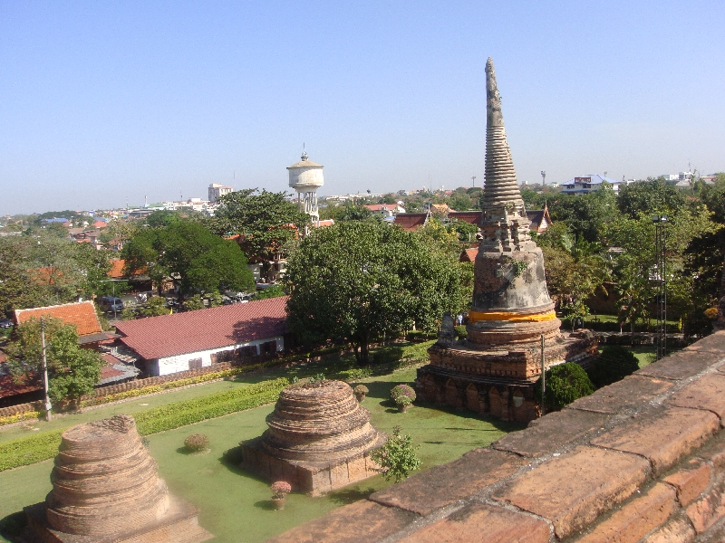 Wat Yai Chaimonkhol from the Chedi, Ayutthaya Thailand