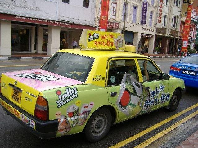 Taxi to Chinatown, Singapore, Singapore