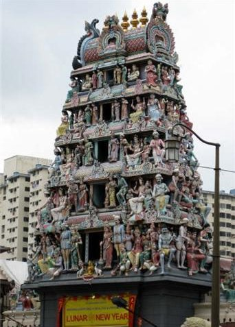 Shri Mariamman Temple in Singapore City, Singapore