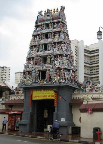 Shri Mariamman Temple in Chinatown, Singapore
