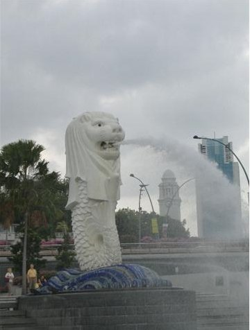 The Merlion Statue in Singapore, Singapore Singapore