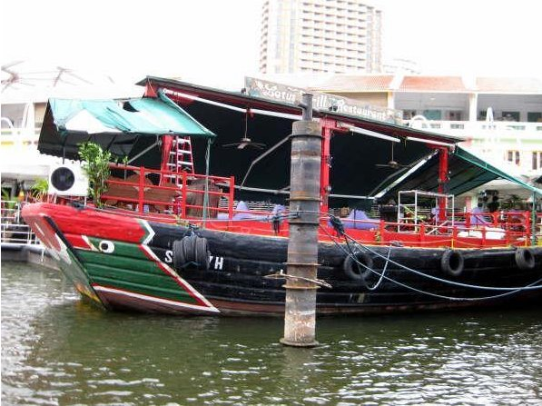 Colourful boats in Singapore, Singapore