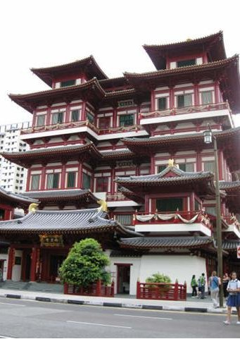 Photos of buildings in Chinatown, Singapore