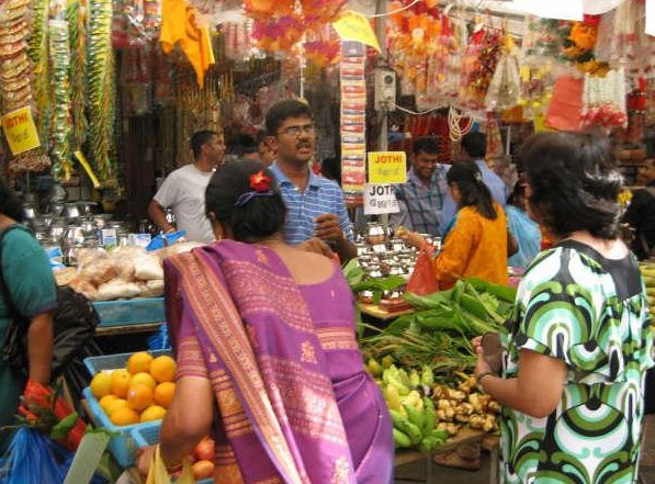 Indians on the fruit market in Singapore, Singapore