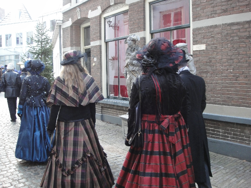 Actors during Charles Dickens Festival, Netherlands