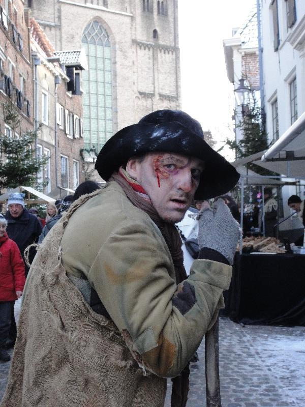 Actor during Charles Dickens festival, Deventer Netherlands