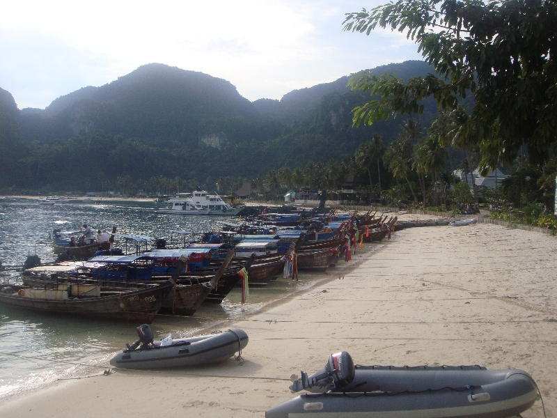 Arriving by boat in Ko Phi Phi, Ko Phi Phi Don Thailand