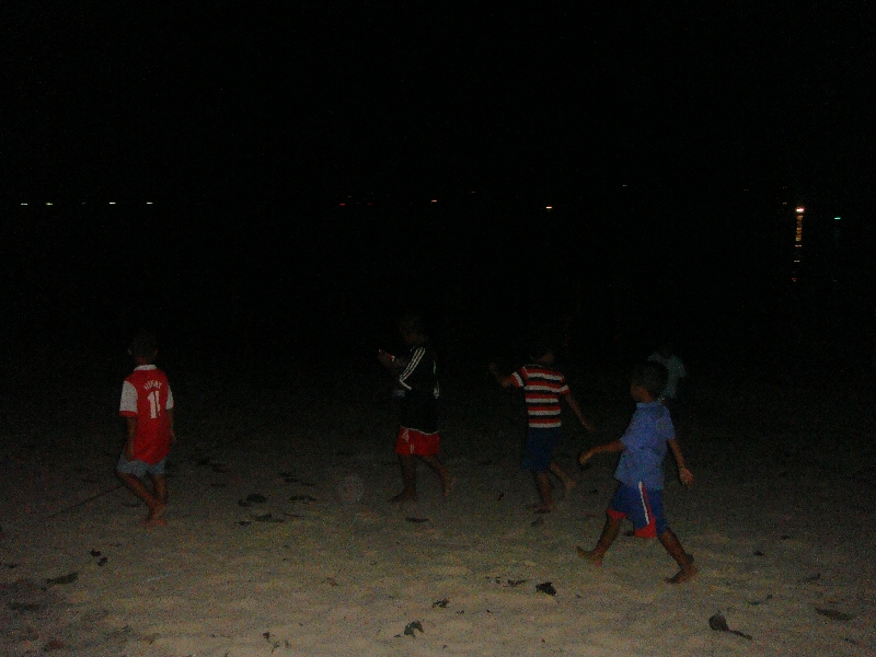 Thai kids on the beach in Phi Phi, Ko Phi Phi Don Thailand
