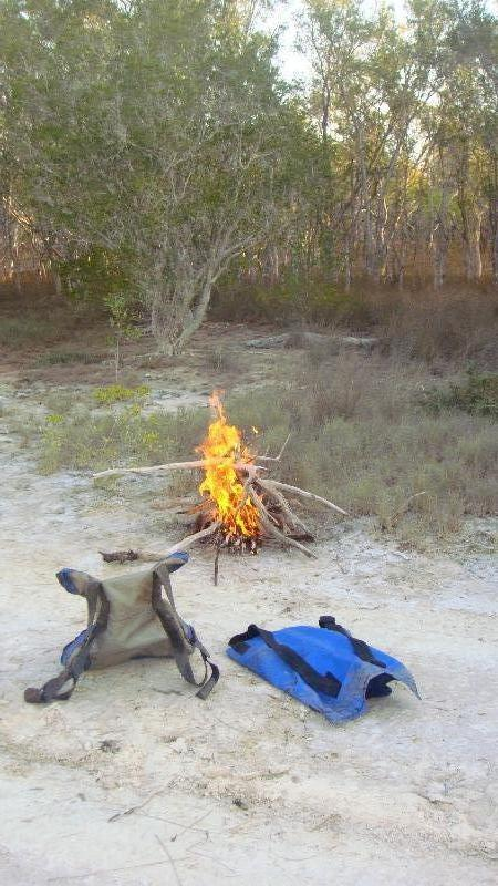 Getting the fire started, Cape Leveque Australia