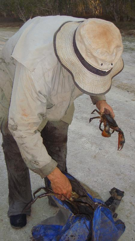 Keep the crabs in the bag!, Cape Leveque Australia