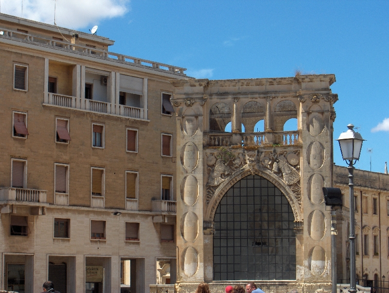 Roman architecture in Lecce Lecce Italy Europe