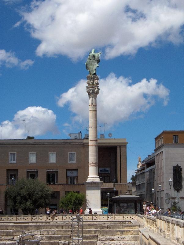 Saint Oronzo Square in Lecce, Italy