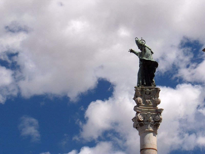The statue of Saint Oronzo in Lecce, Italy