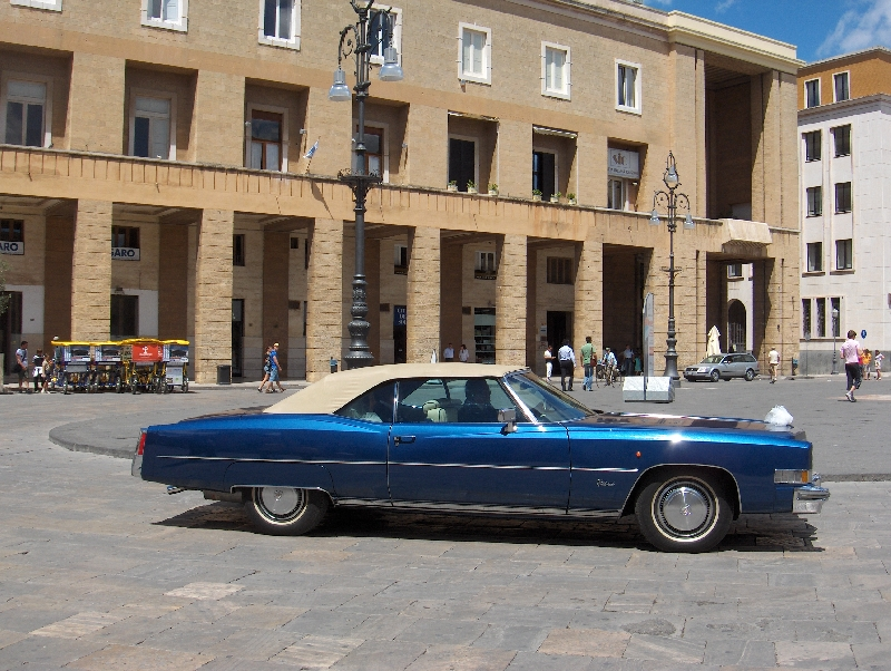 Cruising in the centre of Lecce, Italy