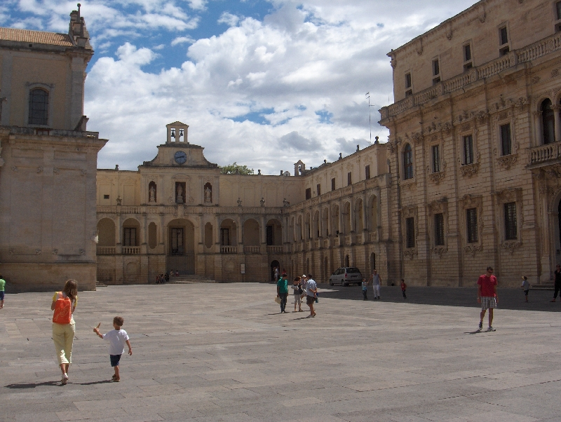 Cathedral's square in Lecce, Italy