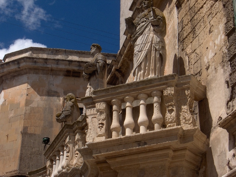 Sculptures near Cathedral's square, Lecce, Italy