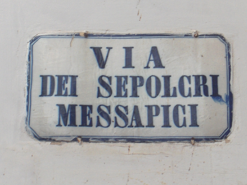 Street signs in Lecce, Italy, Italy