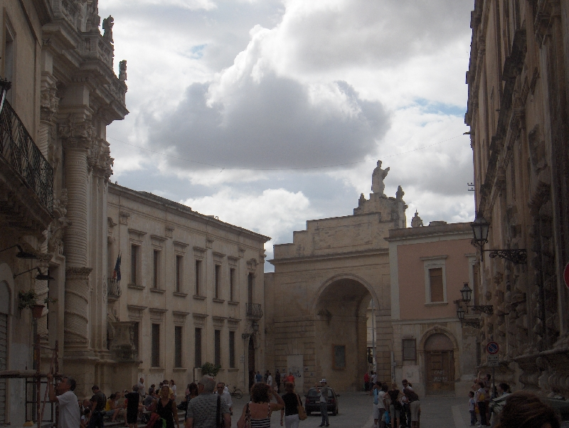 Triumphal arch of Porta Napoli, Lecce, Italy