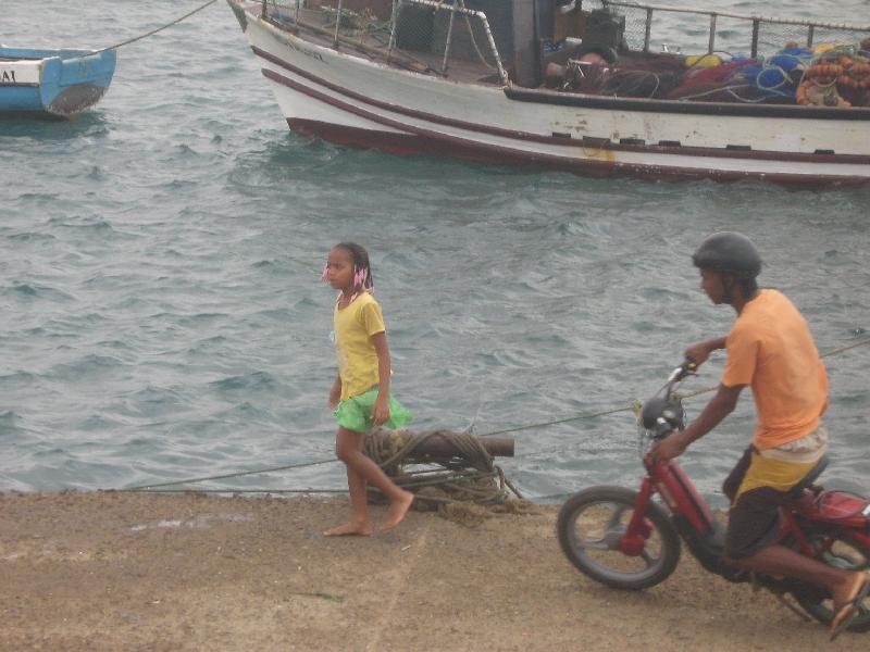 Espargos Cape Verde Young girl at the harbour of Espargos