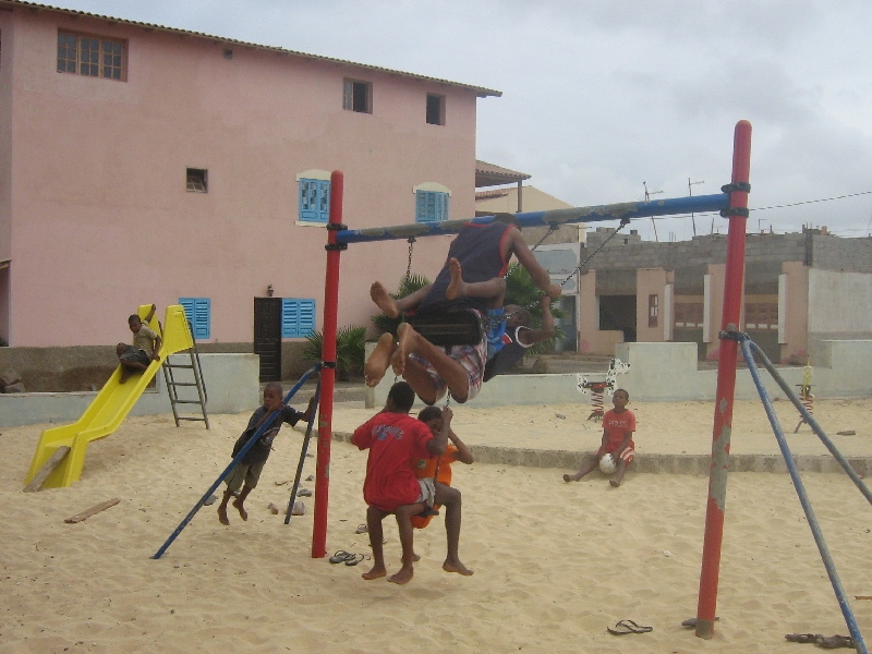 On the playground in Espargos, Cape Verde