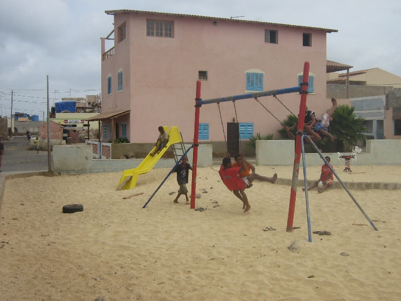 Kids in Espargos playing , Espargos Cape Verde