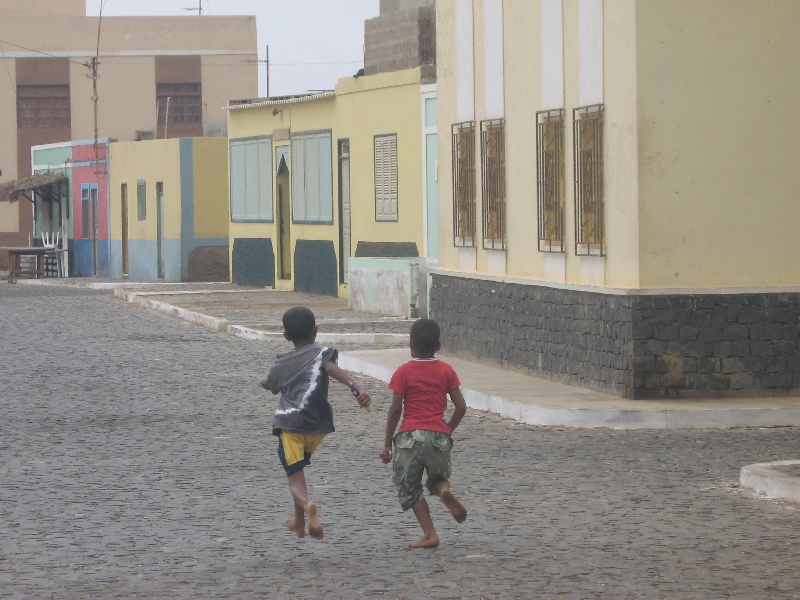 Playing kids in Espargos, Espargos Cape Verde